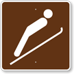 Ski Jumping, MUTCD Guide Sign for Campground