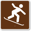 Snowboarding, MUTCD Guide Sign for Campground
