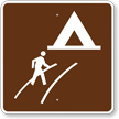 Walk-In Camp, MUTCD Guide Sign for Campground