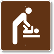 Baby Changing Station, Men's Room, MUTCD Guide Sign