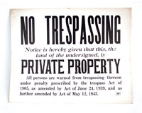 Old No Trespassing Sign
