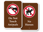 Animal Prohibition Signs