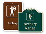 Archery Range Signs