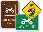 ATV Road Signs