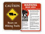 Bears in on Trail Warnng Signs