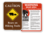 Bears in on Trail Warnng Signs