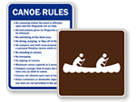 Canoe Signs | Kayak Signs