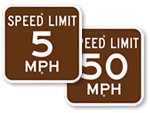 Campground Speed Limit Signs