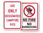 Campsite Safety Signs