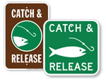 Catch & Release Fishing Signs