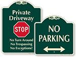 Designer Parking Signs