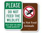 Do Not Feed the Animals Signs