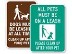 Dog Leash Signs