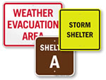 Evacuation Shelter Signs