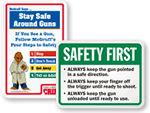 Gun Safety Signs