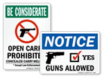 Guns Welcome Signs