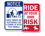 Horse Safety Signs