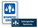 Interpretive Services Door Signs