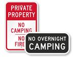 No Camping Signs