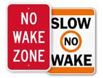 No Wake Signs