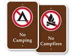 Park Prohibition Signs