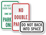 Parking Lot Rules Signs