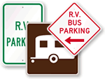 RV & Trailer Parking Signs