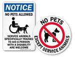 Service Animal Signs