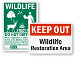 Wildlife Restoration Area Signs