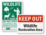 Wildlife Restoration Signs