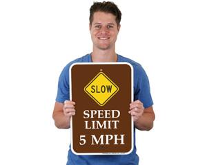 peed Limit 5 MPH Sign