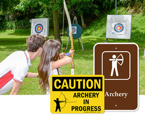 Archery Range Signs
