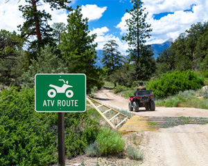 ATV Rout Sign