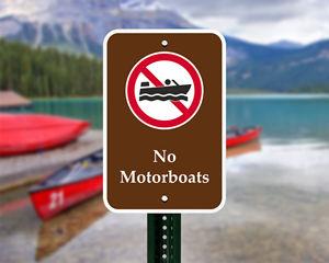 No Boat Signs