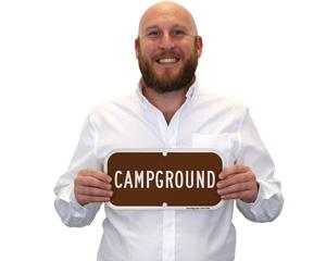 Campsite Campground Sign