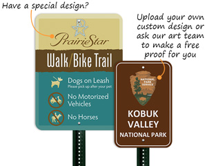 Custom park and trail signs
