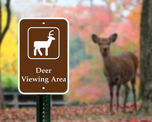 Deer Viewing Area Sign