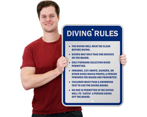 Diving Rules Sign