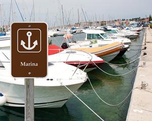 Marina Campground Park Sign