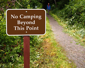 No Camping Allowed Sign