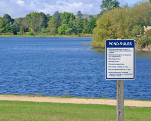 Pond Rules Sign