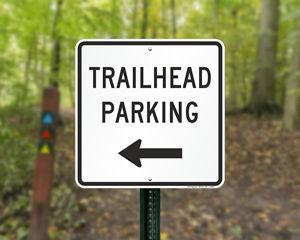 Trailhead Parking Signs