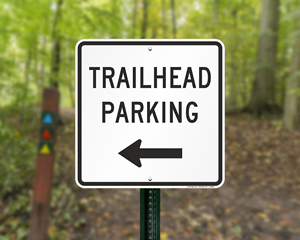 Trailhead Parking Signs