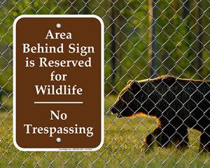 Wildlife Restoration Signs