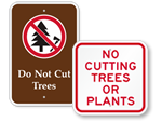 Do Not Cut Trees Signs