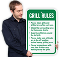 Grill Etiquette Signs