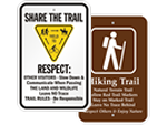 Hiking Safety Signs