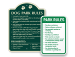Park Rules Signs