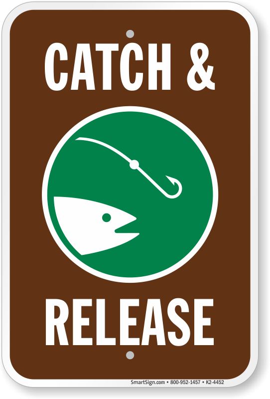 Catch And Release Fishing Sign, SKU: K2-4452