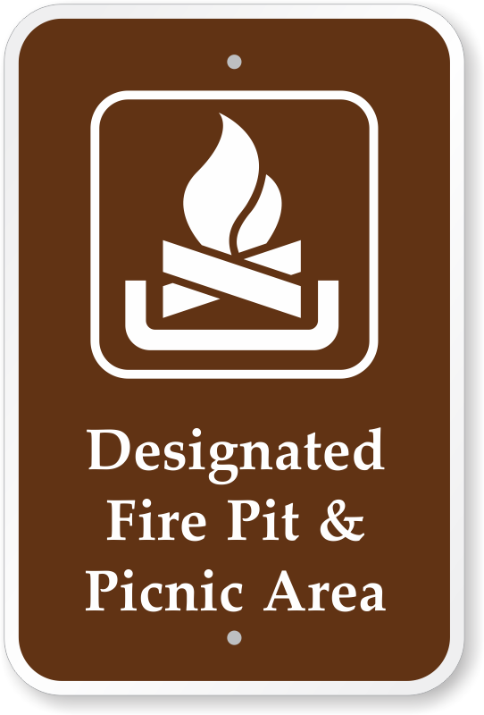 Zoom, Price, Buy - Campfire Signs For Campgrounds